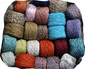 Woll- und Baumwoll-Mischgarne